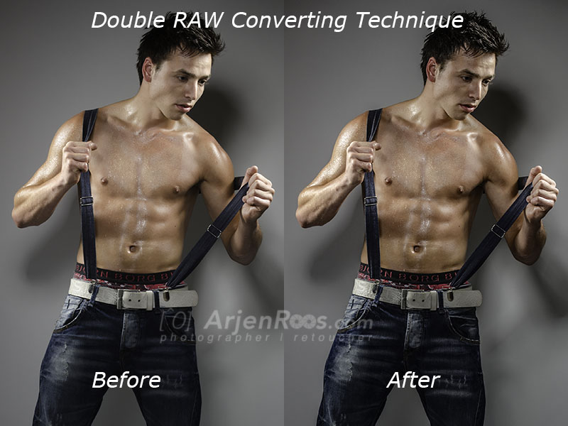 Before & After the Double RAW Converting
