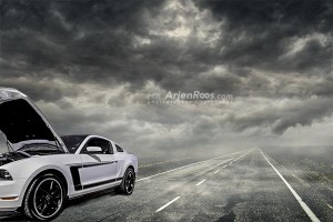 troubled road blog white mustang