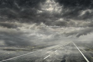 troubled road blog sky added