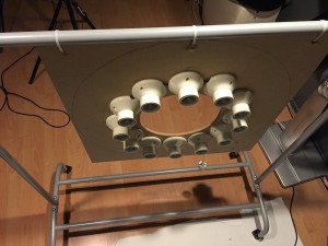 ringlight cloth rack