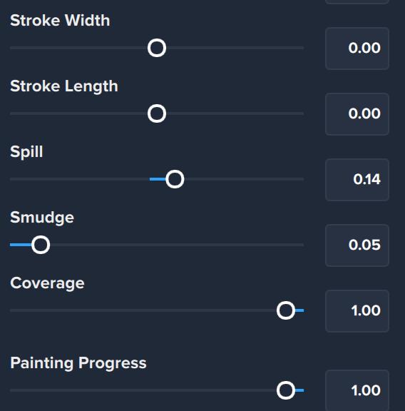 Impression stroke settings II