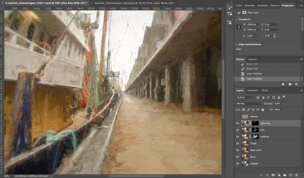 End result of the tutorial Creating a digital painting the easy way.