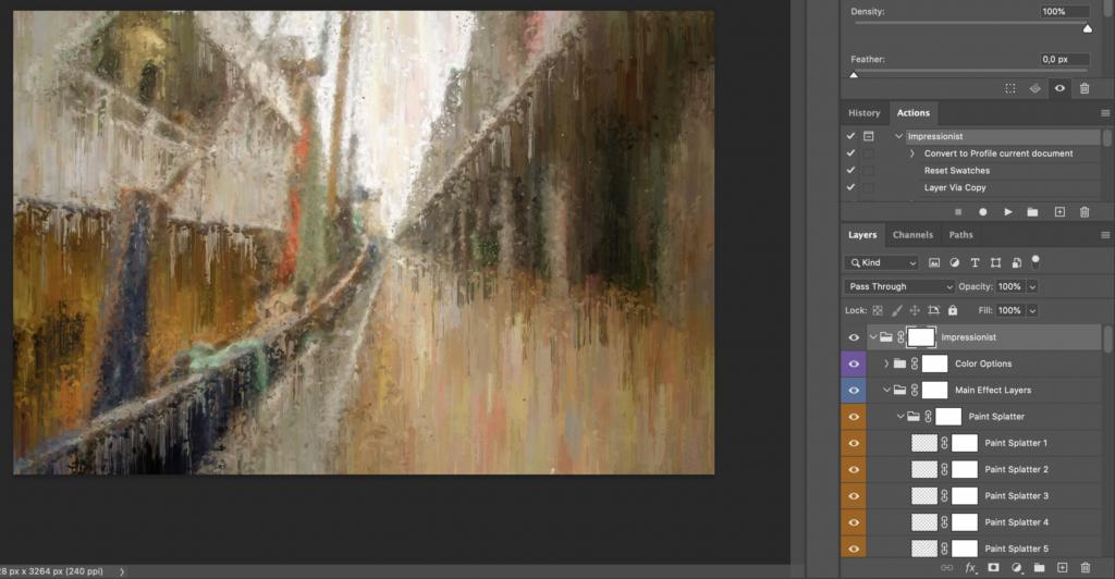 Impressionist Photoshop action end result