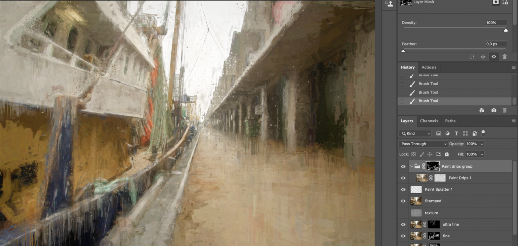 Special effect layers drom the Impressionist action added to the digital painting