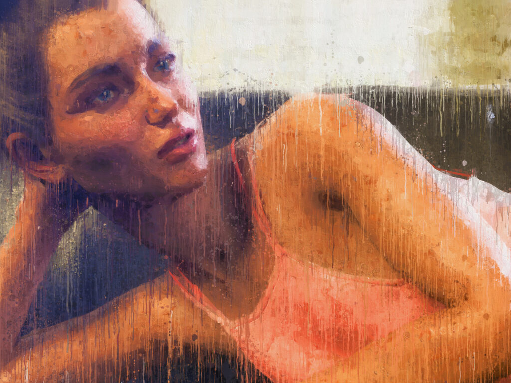 Creating a digital painting from a photo using a photoshop action